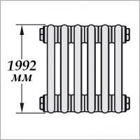 Zehnder Charleston 2200 (высота 1992 мм, боковое подключение)