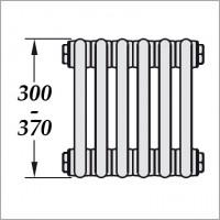 низкие радиаторы (H300-370 мм)
