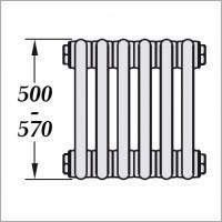 стандартные радиаторы (H500-570 мм)