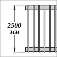Zehnder Excelsior E1250 (высота 2500 мм)
