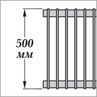 Zehnder Excelsior E1050 (высота 500 мм)