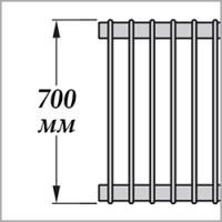 Zehnder Excelsior E1070 (высота 700 мм)