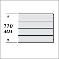 Zehnder Nova Горизонтальная (высота 210 мм)