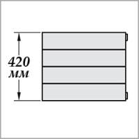 Zehnder Nova Горизонтальная (высота 420 мм)