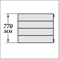 Zehnder Nova Горизонтальная (высота 770 мм)