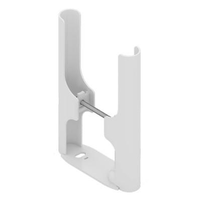 Комплект напольного монтажа 2xPGE для 3-трубчатых радиаторов, H = 210/100 мм, цвет белый RAL 9016