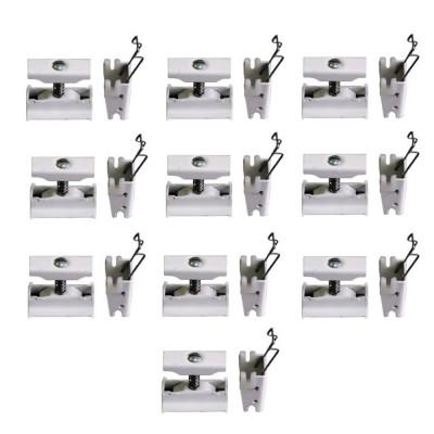 Комплект настенного монтажа 10х(BH+CVD1), цвет белый RAL 9016