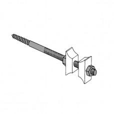 Упор настенный TKK, длина 150 мм, сталь/белый пластик